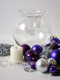 materials you need for a diy Christmas wedding centerpiece