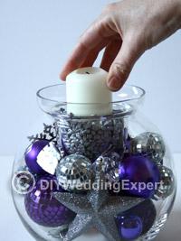 diy candle wedding centerpiece
