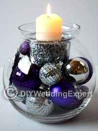 DIY Christmas Wedding Centerpiece