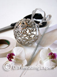 materials need to create a diy wedding pomander