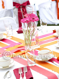 coordinated color theme wedding decorations for a diy wedding