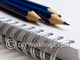 Use a wedding planning checklist on the run up to your wedding day.